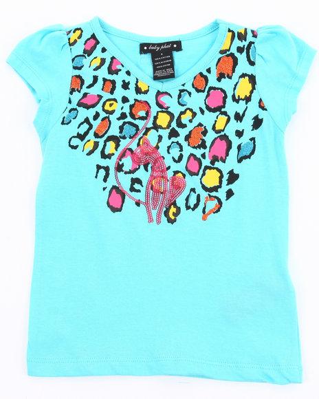 Baby Phat Girls Light Blue Animal Print Tee (4-6X)