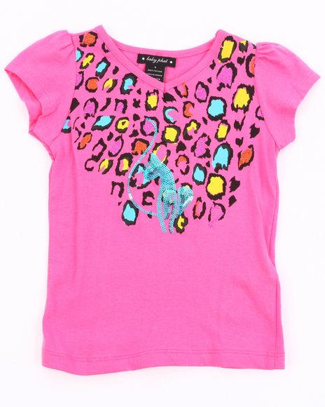 Baby Phat Girls Pink Animal Print Tee (4-6X)