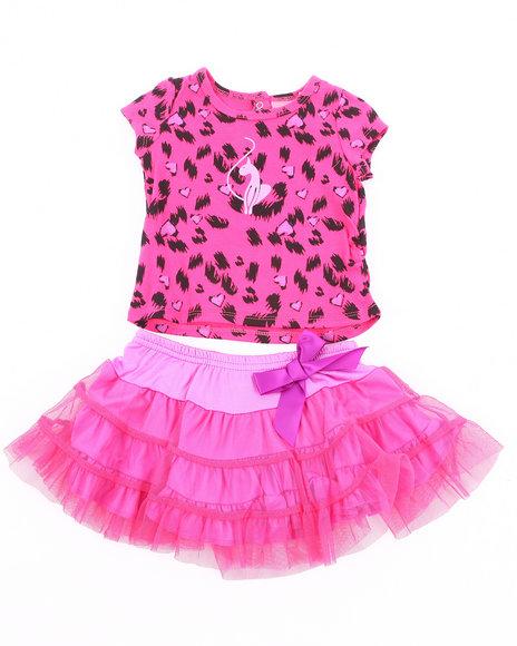 Baby Phat Girls Pink 2 Pc Set - Leopard Tee & Tutu (2T-4T)