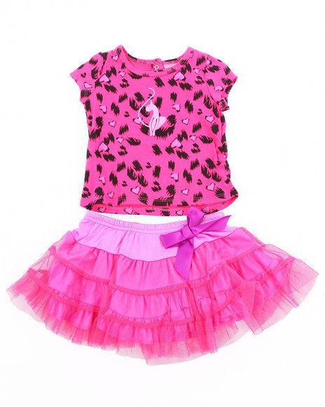 Baby Phat Girls Pink 2 Pc Set - Leopard Tee & Tutu (Newborn)
