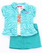 Baby Phat - 3 PC SET - ZEBRA JACKET, TEE, & SKIRT (2T-4T)