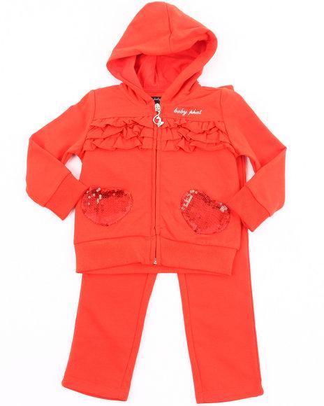 Baby Phat Girls Orange French Terry Jogging Set (7-16)