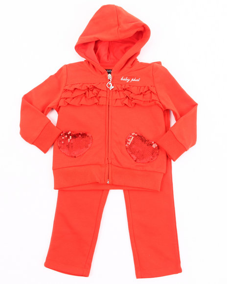 Baby Phat Girls Orange French Terry Jogging Set (2T-4T)