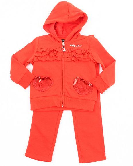 Baby Phat Girls Orange French Terry Jogging Set (Infant)