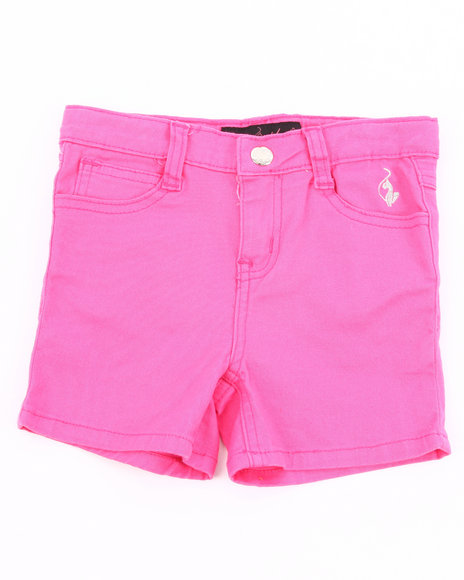 Baby Phat Girls Pink Colored Twill Shorts (4-6X)