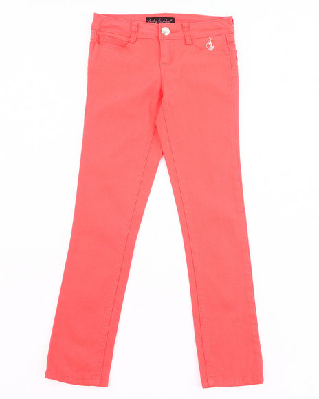 Baby Phat Girls Orange Colored Twill Jeans (7-16)