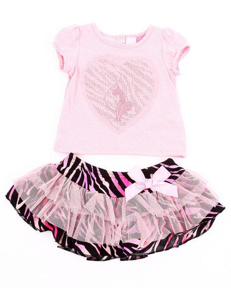 Baby Phat Girls Pink 2 Pc Set - Tee & Zebra Print Tutu (Newborn)