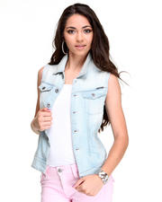 Jackets & Coats - Arc Sleeveless Comfort Denim Vest