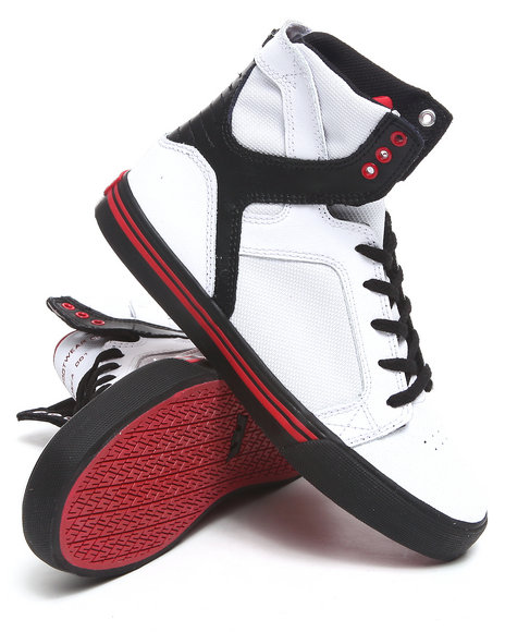 Supra Boys Black,Red,White Skytop White/Black Raptor Tuf Sneakers (Kids)