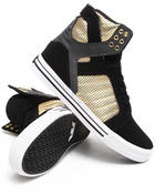 Supra - Skytop Black Nubuck/Gold Microperf Leather Sneakers