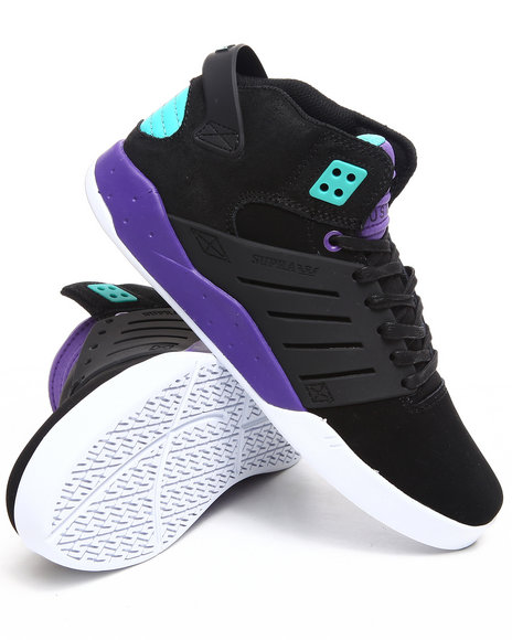 Supra Men Black,Purple Skytop 3 Sneakers