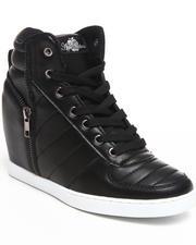 Footwear - Planey Zipper Trim Wedge Sneaker