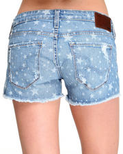 -LOOKBOOKS- - Remy Low Rise Star Print Cut Off Short