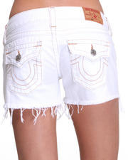 Denim - Kiara Constrast Stitch Cut Off Short