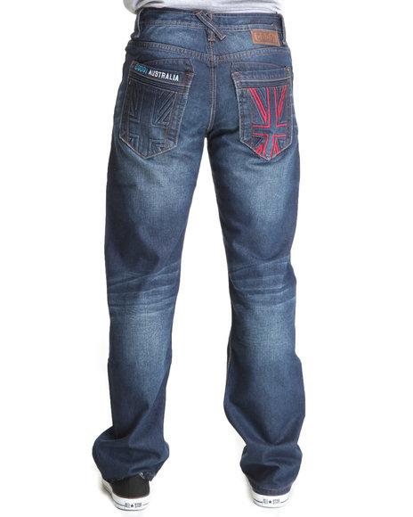 COOGI Men Dark Wash Thrones Dark Wash Denim Jeans