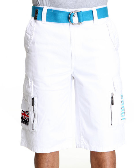 COOGI Men White Thrones Coogi Cargo Short