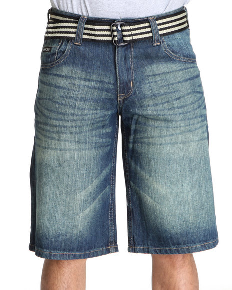 Enyce Men Blue High Road Flap Bright Shorts
