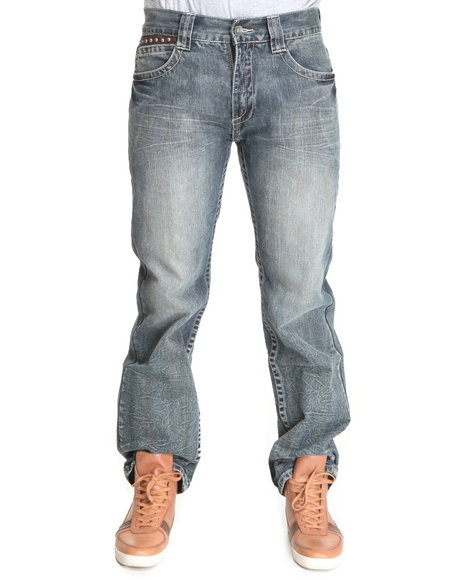 Pelle Pelle Men Parmount Wash Double Layer Pocket Denim Jeans