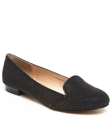 Luichiny Black Falling For You Studded Smoking Shoe