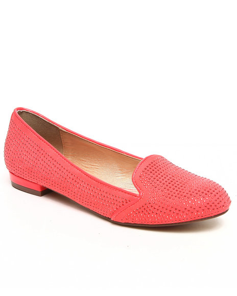 Luichiny - Women Pink Falling For You Studded Smoking Shoe