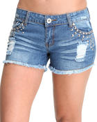 Basic Essentials - Studded Jean Shorts