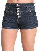 Basic Essentials - High Waisted Jean Shorts