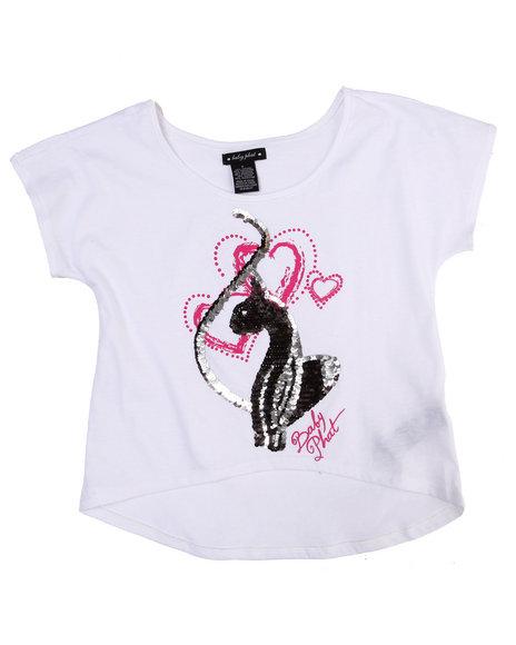 Baby Phat Girls White Big Kitty Tee (7-16)
