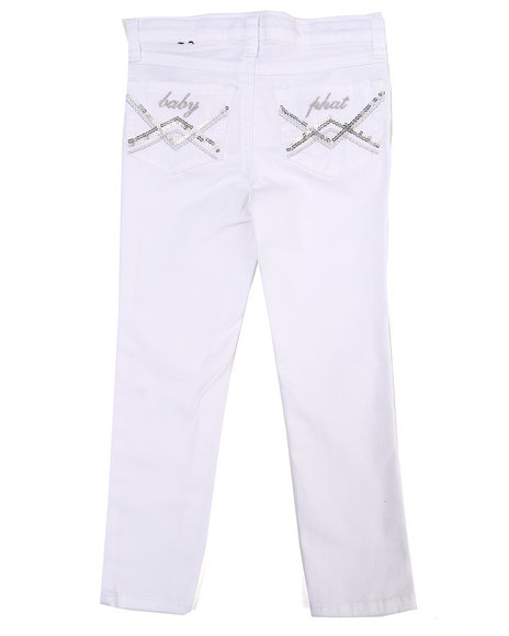 Baby Phat Girls White Colored Twill Jeans (4-6X)