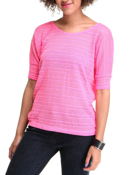 Basic Essentials - Women Pink Light Weight Knit Top