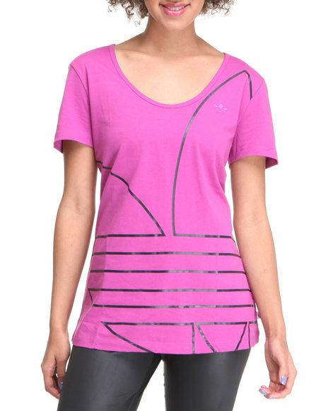 Adidas Women Pink Ef Trefoil Tee