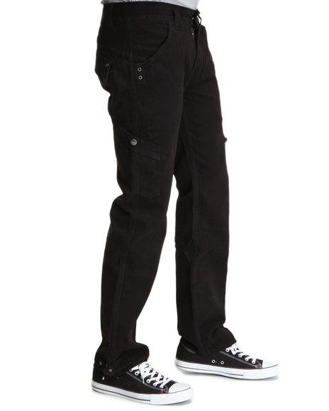Pelle Pelle Men Black Pelle Cargo Pants
