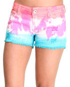 Basic Essentials - Tie Dye Jean Shorts