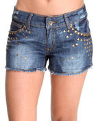 Basic Essentials - Moto Jean Shorts