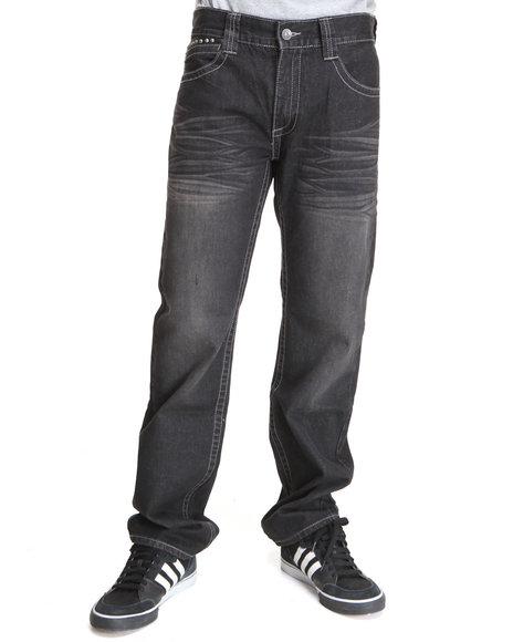 Pelle Pelle Men Black,Raw Wash Black Raw Wash Double Layer Pocket Denim Jeans