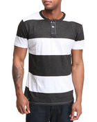 Short-Sleeve - S/S slub Stripe Henley
