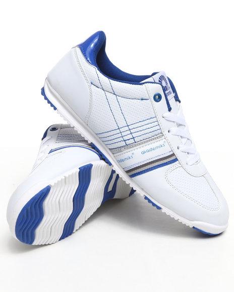 Akademiks Women Blue,White Low Profile Sneaker