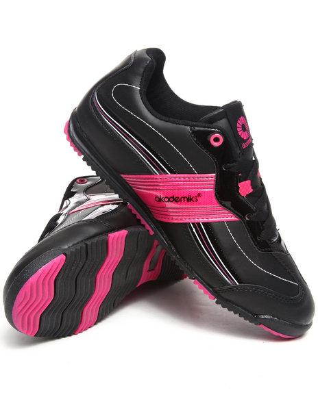 Akademiks Women Black,Pink Low Profile Sneaker