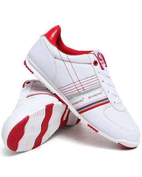 Akademiks Women Red,White Low Profile Sneaker