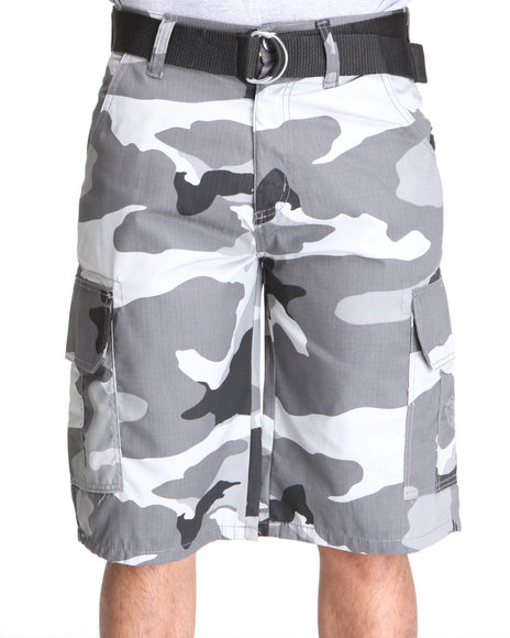 Enyce Men Black Echelon Rip Stop Camo Short