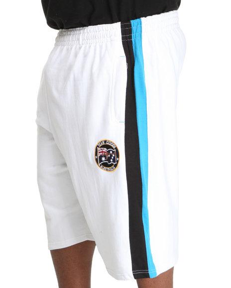 COOGI Men White Thrones Fleece Shorts (B&T)
