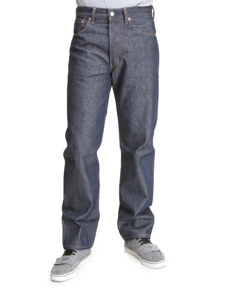 Levi's - Men Dark Wash 501 Shrink-To-Fit Jeans