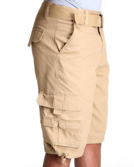 MO7 Khaki Twill Cargo Shorts