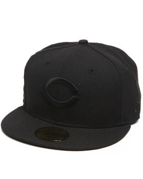 New Era - CINCINNATI RED ALL BLACK EVERYTHING 5950 FITTED CAP