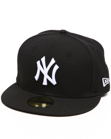 New Era - Men Black New York Yankees White Emb 5950 Fitted Cap