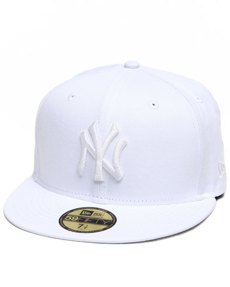 New Era - Men White New York Yankees All White Everything 5950 Fitted Cap