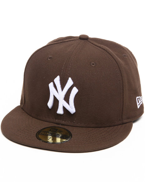 New Era - Men Brown New York Yankees Walnut/White 5950 Fitted Hat