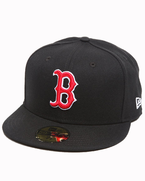 New Era - Men Black Boston Red Sox Mlb League Basic 5950 Fitted Hat - $20.99