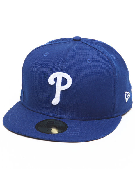 New Era - Men Blue Philadelphia Phillies Mlb League Basic 5950 Fitted Hat
