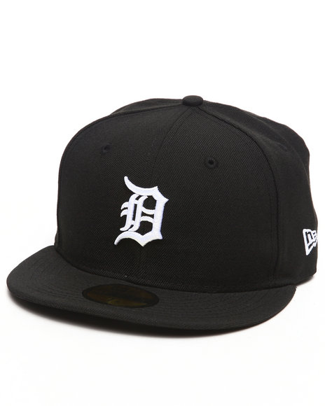 New Era - Men Black Detroit Tigers Mlb League Basic 5950 Fitted Hat