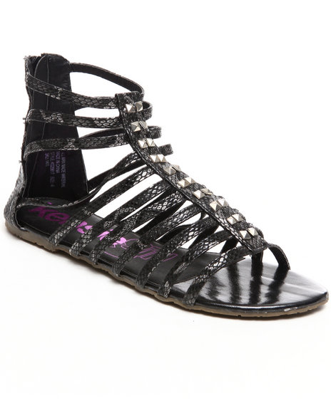Kensie Girl - Girls Black Gladiator Sandal (10-4)